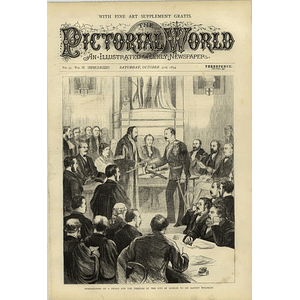 1874 Sir Garnet Wolseley Receiving Sword And Freedom City Of London