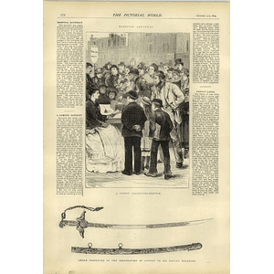1874 Hospital Saturday Street Collecting Station Garnet Wolseley Sword