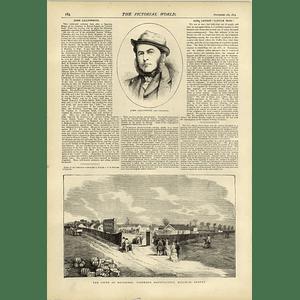 1874 John Lillywhite The Cricketer Firework Factory Mitcham Surrey