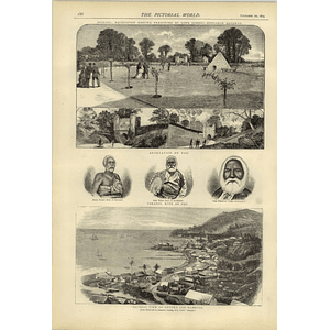 1874 Reigate Recreation Ground King Cakabau Fiji Levuka View Harbour