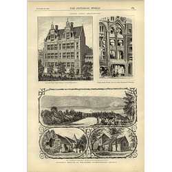 1874 London Street Architecture Keith Prowse How Fireworks Are Made