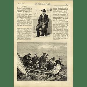 1874 Catching Bluefish In America Edward Kullman Dover Chest Found
