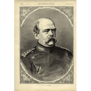 1874 Large Portrait Of Prince Bismarck