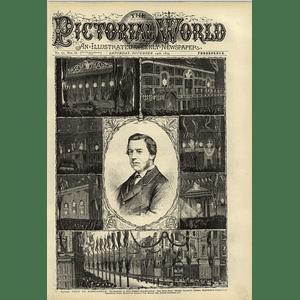 1874 Royal Visit Birmingham Joe Chamberlain Bull Street Illuminations