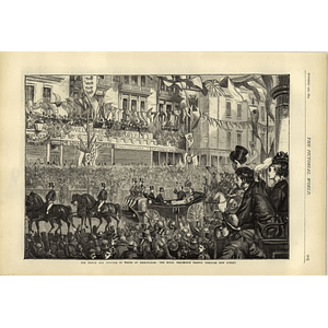 1874 Royal Visit To Birmingham Procession Along New Street