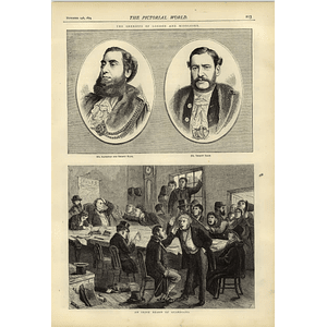 1874 Ald Ellis Sheriff Shaw London Irish Board Of Guardians