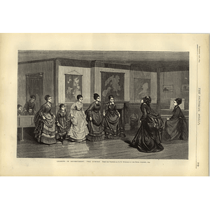 1874 Lessons In Deportment The Curtsy Painting Dw Wynfield