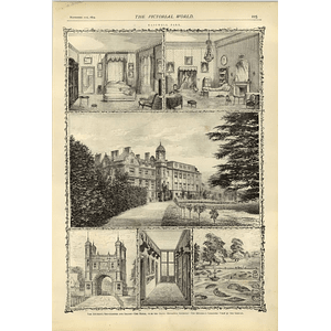 1874 Eastwell Park Entrance Gateway Duchess Bedchamber Saloon