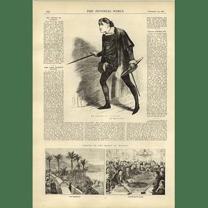 1874 Mr Irving Is Hamlet Facial Anomalies Opening Season Monaco