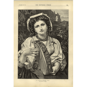 1874 And Italian Peasant Girl Picture By P De Cormick