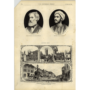 1874 Ashford Kent High Street Fountain Col Warburton Abou Sooad Arab Chieftain