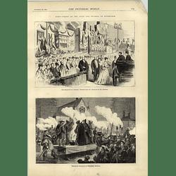 1874 Torchlight Procession Masquers Ashford Royal Reception