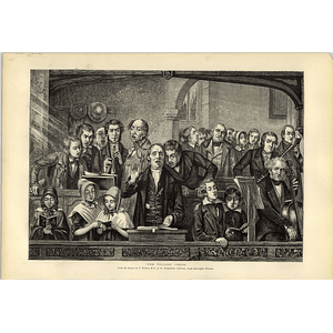 1874 The Village Choir Artwork T Webster Sheepshanks Collection