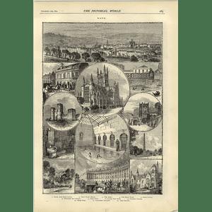 1874 Pictures Of Bath Sham Castle Beau Nash Free Pump Prior Park