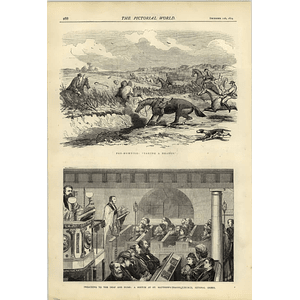 1874 Preaching To Deaf And Dumb St Matthews Bethnal Green Foxhunting