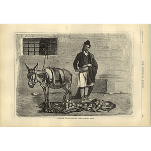 1874 Spanish Fruit Seller And His Donkey Picture E Rosales