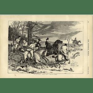 1874 Foxhunting Gone Away Artwork By R Caldecott
