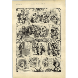 1874 Some Christmas Joys And Sorrows Porters Troubles Christmas Boxes