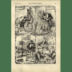 1874 4 Christmas Phases Childhood Yoth Manhood Age