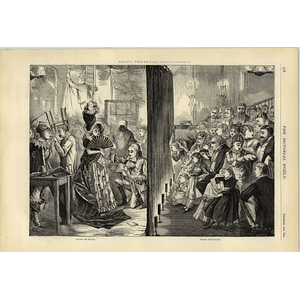 1874 Private Theatricals Behind-the-scenes Drawn By G Cruickshank Jr
