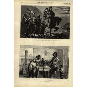 1874 Christmas In The Kerry Mountains Midnight Mass America Won Raffle