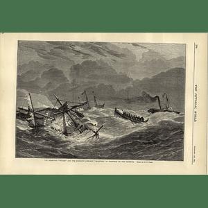 1874 Steam Tug Vulcan Ramsgate Lifeboat Bradford Christmas Goodwin Sands