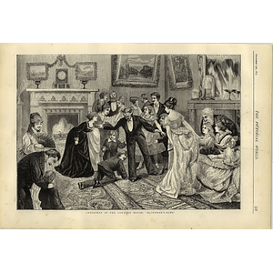 1874 Christmas In The Country House Playing Blind Man's Bluff