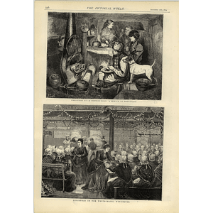 1874 Christmas On A Monkey Boat Brentford In The Whitechapel Workhouse
