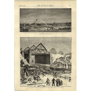1874 Fatal Railway Catastrophe Shipton Oxford Canal Bridge West Hartlepool Wreck
