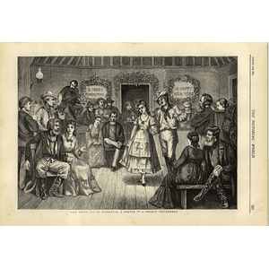 1874 New Year's Day In Australia Sketch In A German Settlement