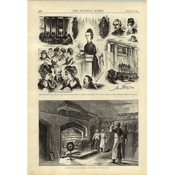 1874 Roasting Baron Of Beef At Windsor Mrs Fawcett Character Lecture