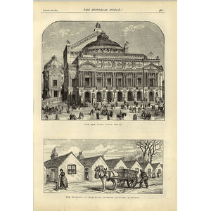 1874 New Paris Opera House Woolwich Epidemic Married Quarters