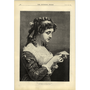 1874 Superb Artwork From A Photograph An Interesting Letter