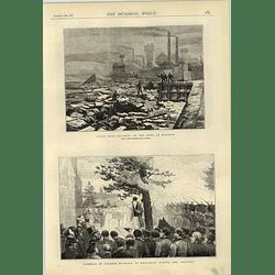 1874 Fatal Boat Accident Tyne Blaydon Col Milward Woolwich Funeral