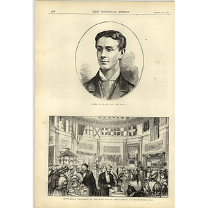 1874 King Alphonso Xii Of Spain Centennial Tea Party Capitol Washington