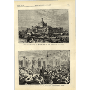 1874 Soiree In Aid Deaf And Dumb Freemasons Hall Philadelphia Exhibition