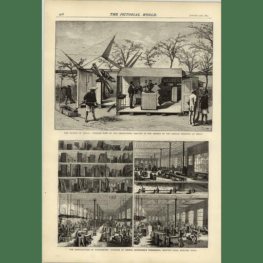 1874 Transit Venus Observatory French Legation Peking Piano Factory Brinsmead