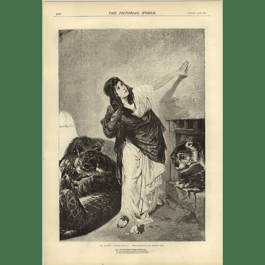 1874 A Last Farewell Poignant Artwork Gabriel Max Christian Persecution