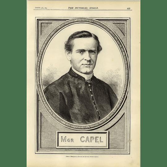 1874 The Right Rev Msgr Capel