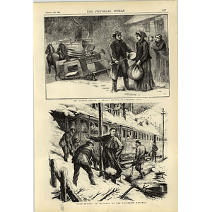 1874 Yankee Pedlar Vermont Caithness Railway Snowbound Incident