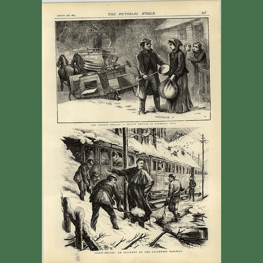 1874 Yankee Pedlar Vermont Caithness Railway Snowbound Incident