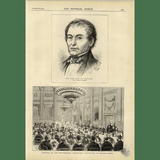 1874 Lord St Leonards Mews Fenders Benevolent Institution Festival