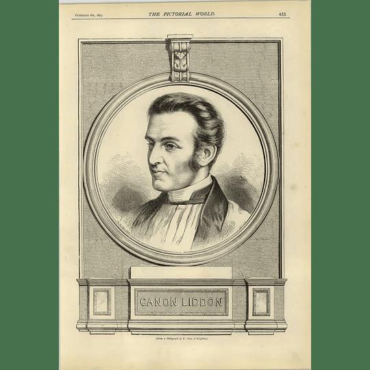 1874 Canon Liddon From Photograph E Neve Brighton