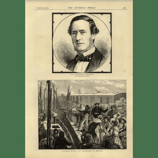 1874 Landing Dublin Bay Herrings Howth Sir Sterndale Bennett