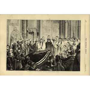 1874 Funeral Of Sir Sterndale Bennett Westminster Abbey