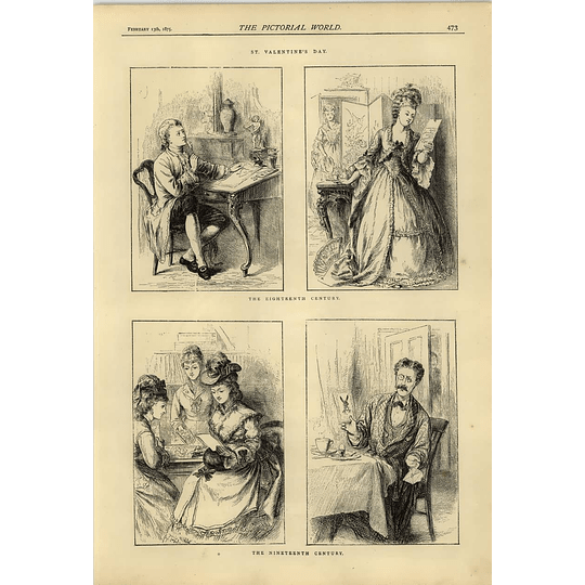 1874 St Valentine's Day During The 18th Century And 19th-century