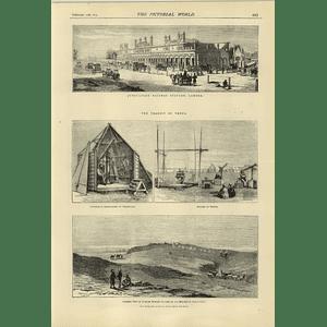 1874 Jubbulpoor Railway Station Lahore Transit Of Venus Thebes Mokattann