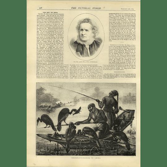 1874 Cormorant Fishing In China Rev James Begg Edinburgh