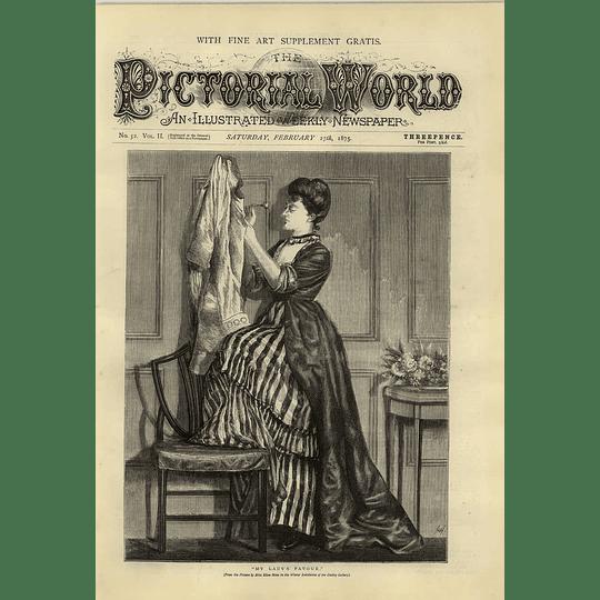 1874 My Ladies Favour Picture Miss Ellen Stone