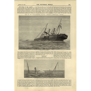 1874 Wreck Of The South Western Railway Company Steamship Havre